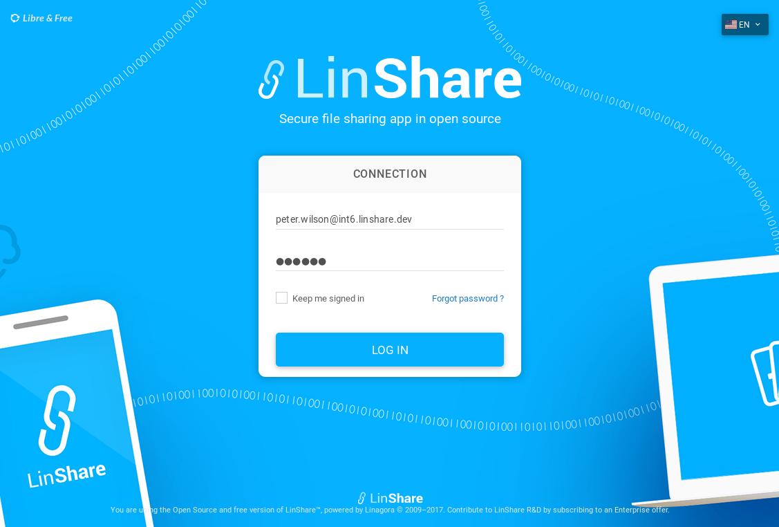 2 0 0 - download linshare org > screenshots > linshare-ui